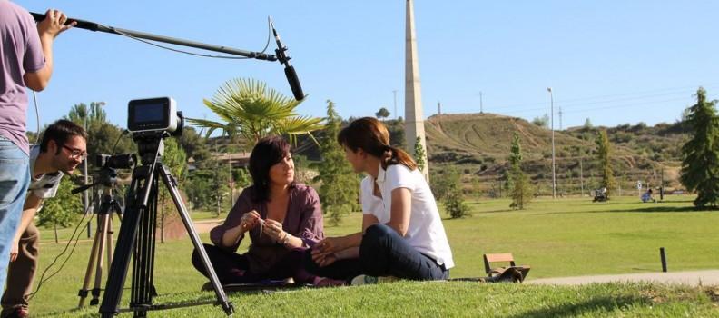 Gravació a Aïda Loizu al Parc d'Europa d'Almacelles.